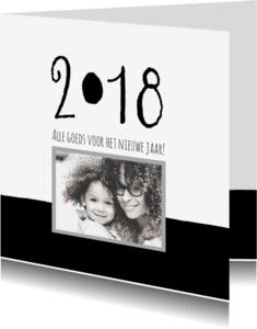 Kerstkaarten - Kerstkaart modern 2018 met foto IP
