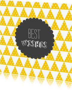 Kerstkaarten - kerstkaart modern best wishes  001