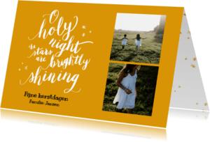 Kerstkaarten - Kerstkaart o holy night -HM