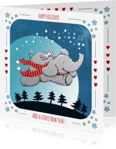 Kerstkaarten - Kerstkaart olifant IH