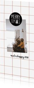Kerstkaarten - Kerstkaart ruit rood-HM