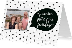 Kerstkaarten - Kerstkaart scandinavisch met foto - WW