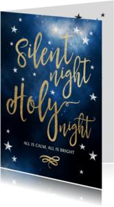 Kerstkaarten - Kerstkaart Silent night