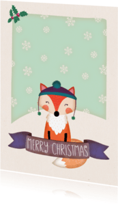 Kerstkaarten - Kerstkaart staand vos - BK