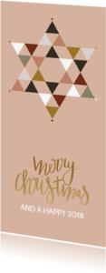 Kerstkaarten - Kerstkaart ster kleur - HM