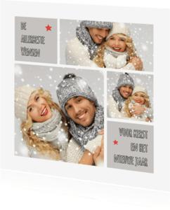 Kerstkaarten - Kerstkaart trendy collage wit OT