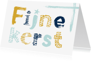 Kerstkaarten - Kerstkaart trendy letters