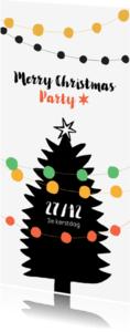 Kerstkaarten - Kerstkaart uitnodiging voor feestje