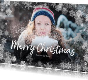 Kerstkaart winter grote foto - BK