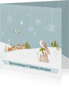 Kerstkaarten - Kerstkaart winterwonderland
