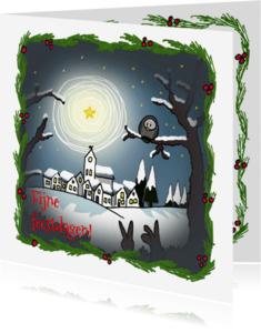 Kerstkaarten - kerstkaarten-kerstlandschap