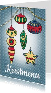 Kerstkaarten - Kerstmis menukaart