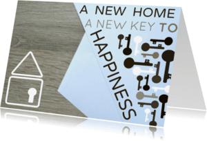 Felicitatiekaarten - Key to happiness