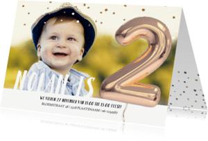 Kinderfeestjes - Kinderfeestje Ballon 2 jaar confetti