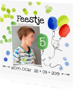Kinderfeestjes - Kinderfeestje ballonnen jongen meisje