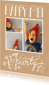Kinderfeestjes - Kinderfeestje collage tekening
