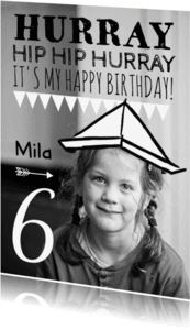Kinderfeestjes - Kinderfeestje hoedje papier hip