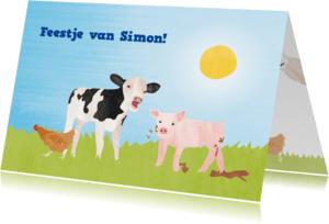 Kinderfeestjes - Kinderfeestje koe, varken, kip