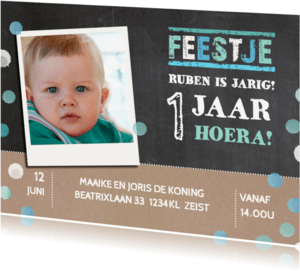 Kinderfeestjes - Kinderfeestje krijtbord confetti