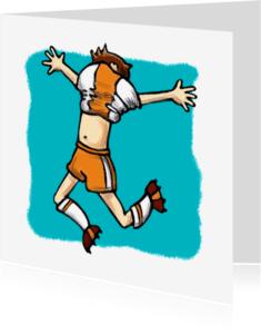 Kinderfeestjes - Kinderkaart Voetballer