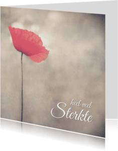 Condoleancekaarten - Klaproos - Heel veel Sterkte