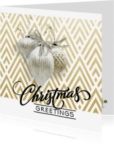 Kerstkaarten - Klassiek moderne kerstkaart - SG