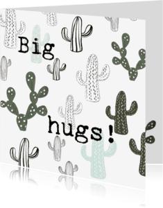 Vriendschap kaarten - Knuffel een Cactus-kaart 'BIG HUGS!'