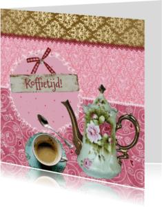 Uitnodigingen - Koffietijd mixed media