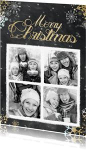 Kerstkaarten - Krijtbord kerst 4 foto's - BK