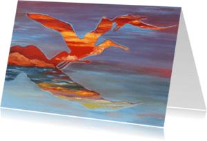 Kunstkaarten - Kunst, Icarus/vogels - AZ