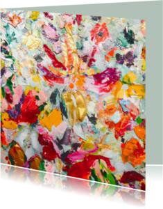 Kunstkaarten - Kunst print abstracte bloemen