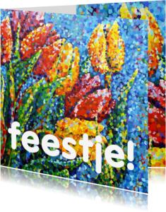 Kunstkaarten - Kunst Tulp stippels - AW