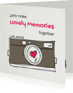 Liefde kaarten - Let's make Lovely Memories - SG