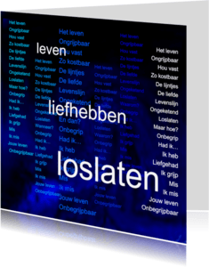 Condoleancekaarten - Leven liefhebben loslaten - AW