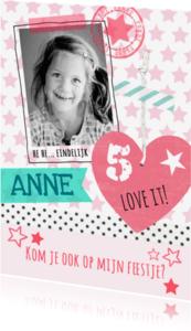 Kinderfeestjes - lief kinderfeest kaart meisje