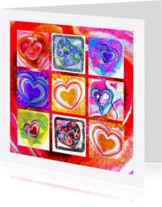 Liefde kaarten - Liefde 9 harten - AW