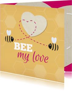 Liefde kaarten - Liefde Bij geel hart - MD