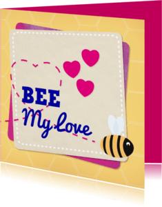 Liefde kaarten - Liefde Bij kaartje geel - MD