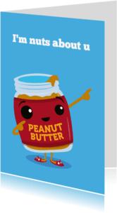 Liefde kaarten - Liefde Funny Food Nuts