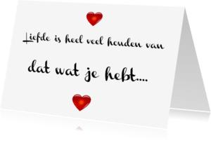 Liefde kaarten - Liefde is houden van