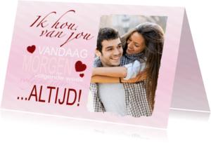 Valentijnskaarten - Liefde kaart altijd! - BK