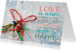 Liefde kaarten - Liefde kaart gelukspoppetjes