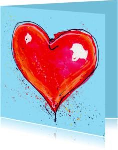 Liefde kaarten - Liefde kaart met rood hart