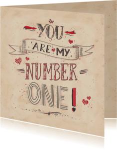 Liefde kaarten - Liefdekaart Nummer Een - NA