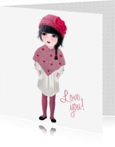 Liefde kaarten - Liefdeskaart Love You! -LT