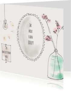 Liefde kaarten - Liefdeskaart Spiegel