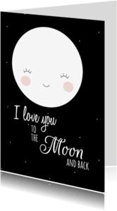 Liefde kaarten - Liefdeskaart To the Moon