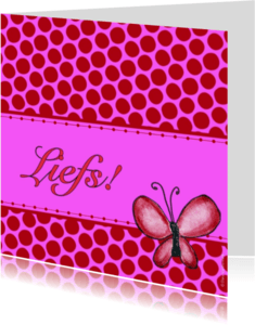 Vriendschap kaarten - Liefs vlinder