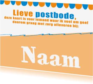 Moederdag kaarten - lieve postbode met naam