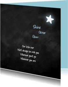 Rouwkaarten - Little Star-Jongen